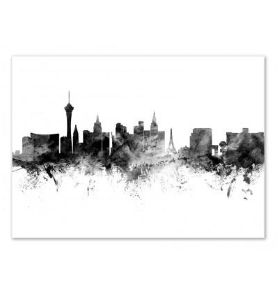 Art-Poster - Las Vegas Nevada Skyline - Michael Tompsett