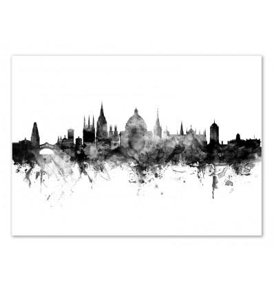 Art-Poster - Oxford England Skyline - Michael Tompsett