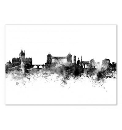 Art-Poster - Rome Italy Skyline - Michael Tompsett
