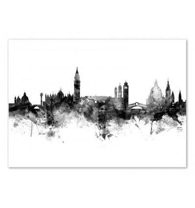 Art-Poster - Venice Italy Skyline - Michael Tompsett