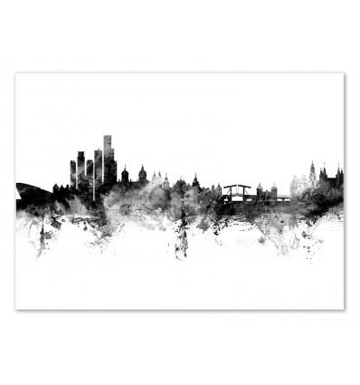 Art-Poster - Amsterdam The Netherlands Skyline - Michael Tompsett