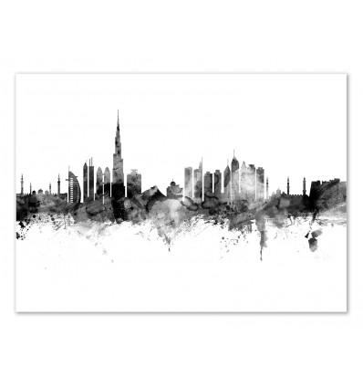 Art-Poster - Dubai Skyline - Michael Tompsett