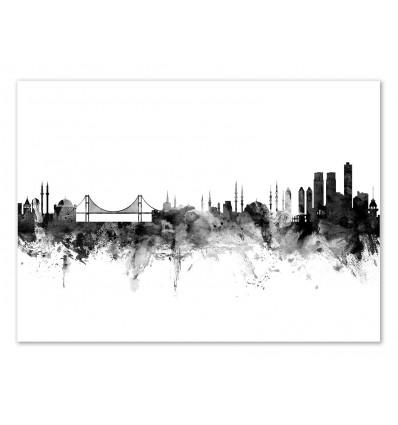 Art-Poster - Istanbul Turkey Skyline - Michael Tompsett
