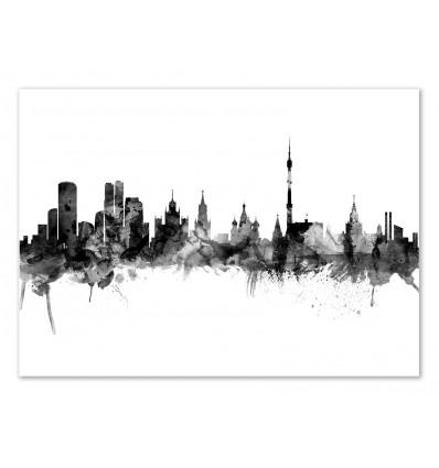 Art-Poster - Moscow Russia Skyline - Michael Tompsett