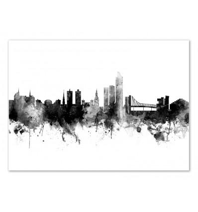 Art-Poster - Oslo Norway Skyline - Michael Tompsett