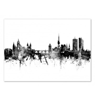 Art-Poster - Prague Czeck Republic Skyline - Michael Tompsett