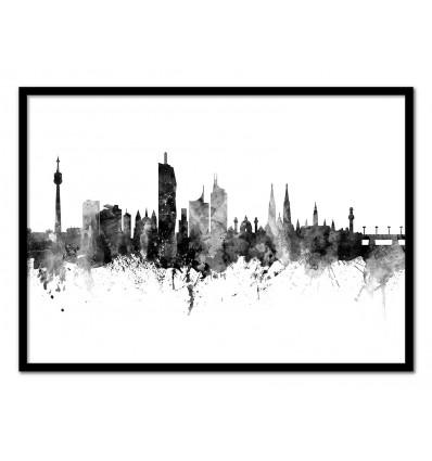 Art-Poster - Vienna Austria Skyline - Michael Tompsett
