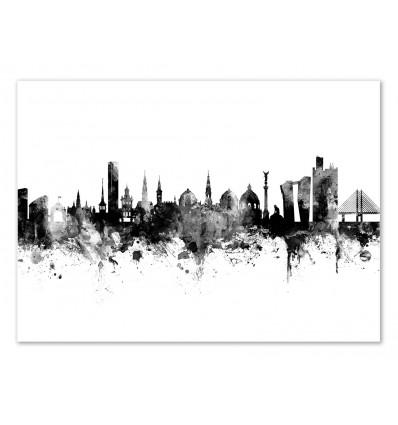 Art-Poster - Copenhagen Denmark Skyline - Michael Tompsett
