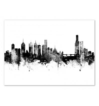 Art-Poster - Melbourne Australia Skyline - Michael Tompsett