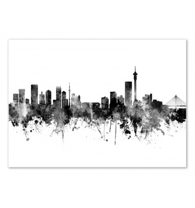 Art-Poster - Johannesburg South Africa Skyline - Michael Tompsett