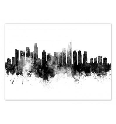 Art-Poster - Los Angeles California Skyline - Michael Tompsett