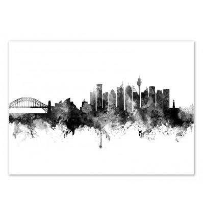 Art-Poster - Sydney Australia Skyline - Michael Tompsett