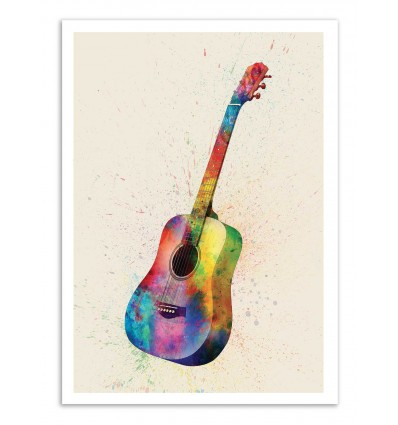 Art-Poster - Acoustic Guitar - Michael Tompsett