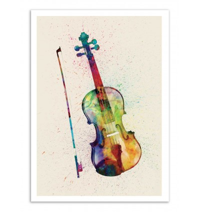 Art-Poster - Violin - Michael Tompsett