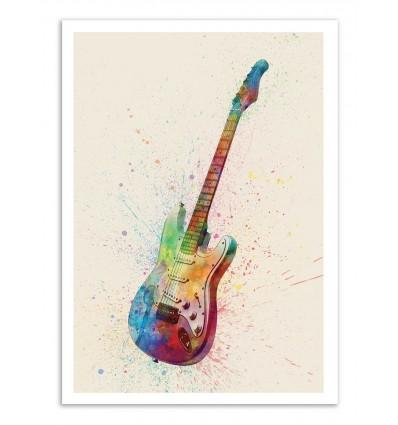Art-Poster - Electric Guitar - Michael Tompsett