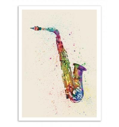Art-Poster - Saxophone - Michael Tompsett