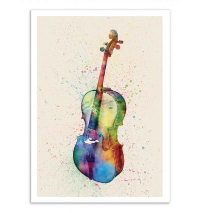 Art-Poster - Cello - Michael Tompsett