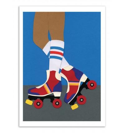 Art-Poster - 70s Roller Skate Girl - Rosi Feist