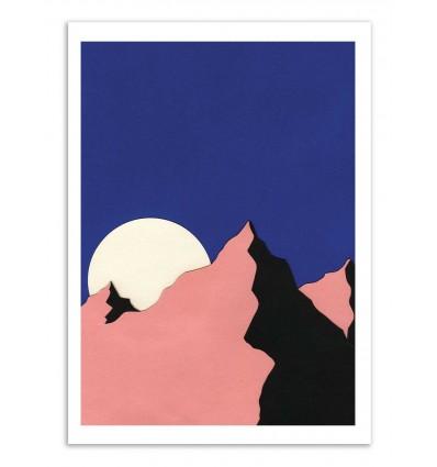 Art-Poster - Death valley moon vertical - Rosi Feist