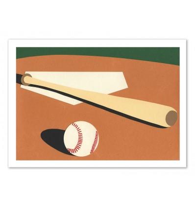 Art-Poster - LA Baseball field - Rosi Feist