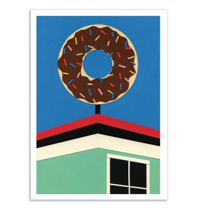 Art-Poster - LA Donut corner - Rosi Feist