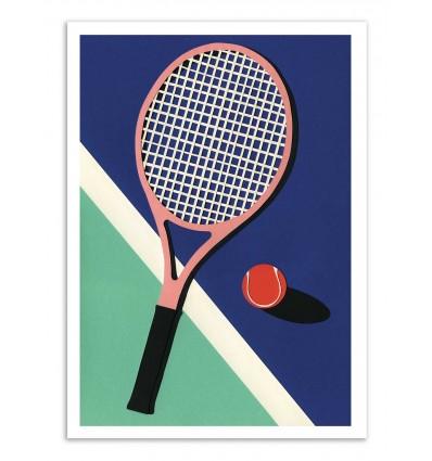 Art-Poster - Malibu Tennis club - Rosi Feist