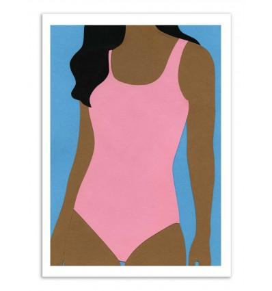 Art-Poster - Pink Swimsuit - Rosi Feist