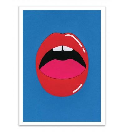 Art-Poster - Red lips - Rosi Feist