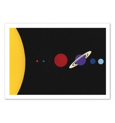 Art-Poster - Solar system - Rosi Feist