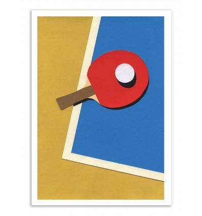 Art-Poster - Table Tennis Red - Rosi Feist