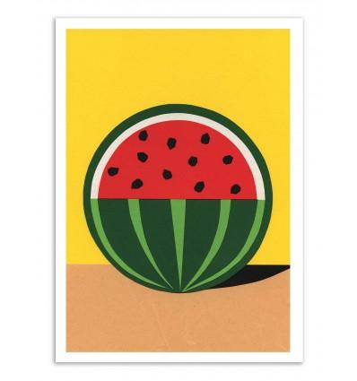 Art-Poster - Three quarter watermelon - Rosi Feist