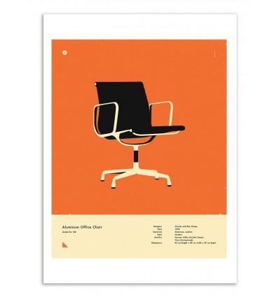 Art-Poster - Aluminium office chair - Jazzberry Blue