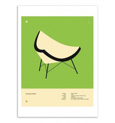 Art-Poster - Coconut chair - Jazzberry Blue