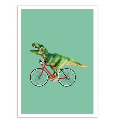 Art-Poster - T-Rex bike - Jonas Loose
