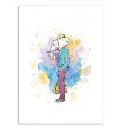 Art-Poster - Be wild Elephant - Roumio Oska