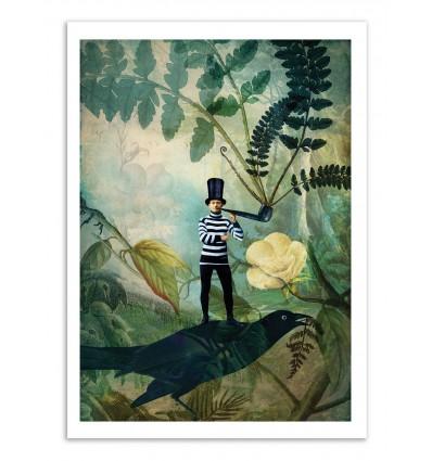 Art-Poster - Man under the fern tree - Catrin Welz-Stein