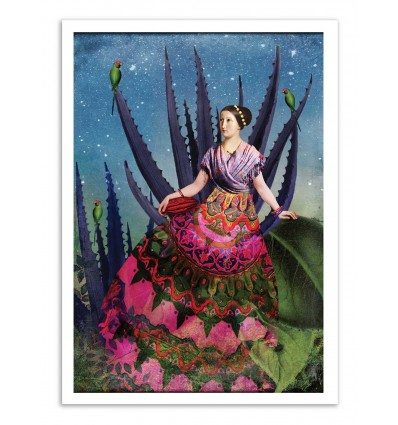 Art-Poster - Blue agave and cacao - Catrin Welz-Stein