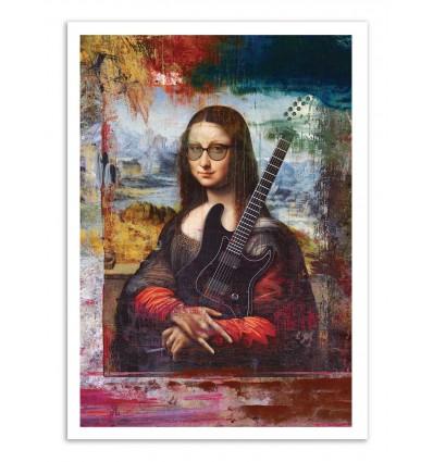 Art-Poster - She rocks - José Luis Guerrero