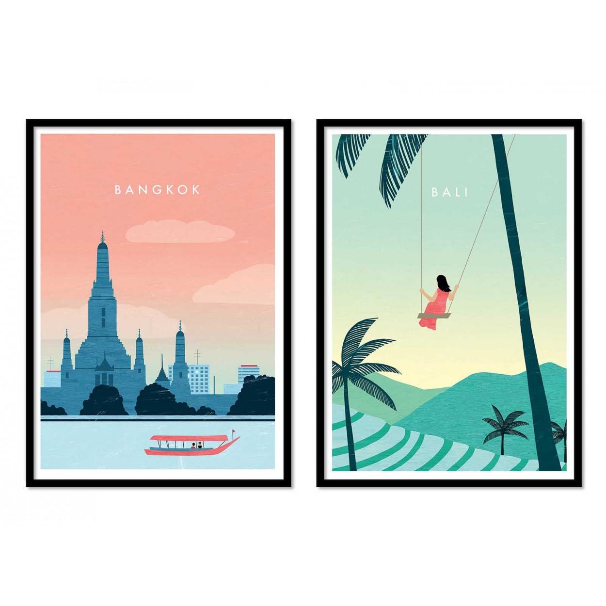 Illustration Art Poster Frame Print And Digital Of Travel Posters