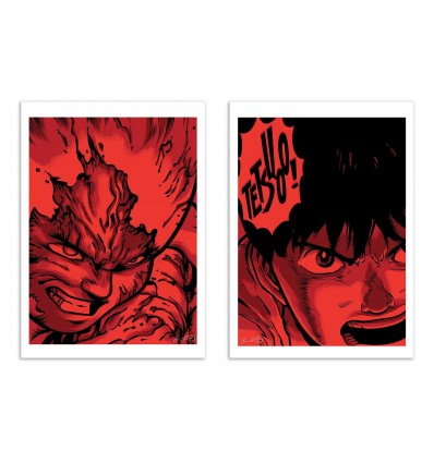 2 Art-Posters 30 x 40 cm - Tetsuo x Kaneda - Joshua Budich