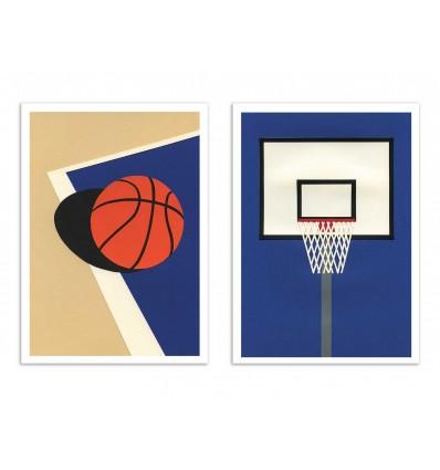 2 Art-Posters 30 x 40 cm - Oakland Basketball Team - Rosi Feist
