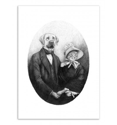 Art-Poster - Eternal Couple - Mike Koubou