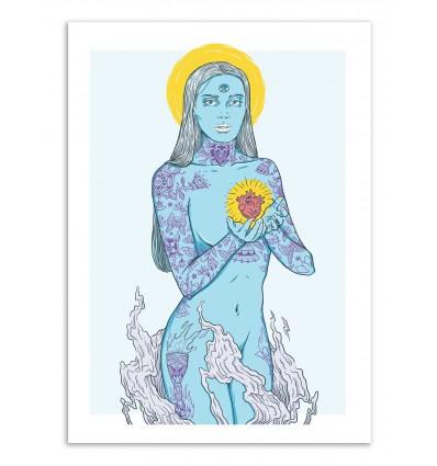 Art-Poster - Inked Blue - Andy Alvez