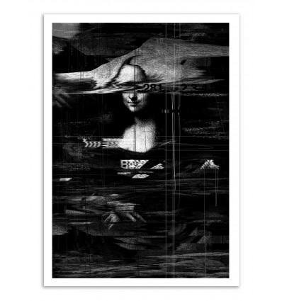 Art-Poster - Mona Lisa Glitch - Nicebleed