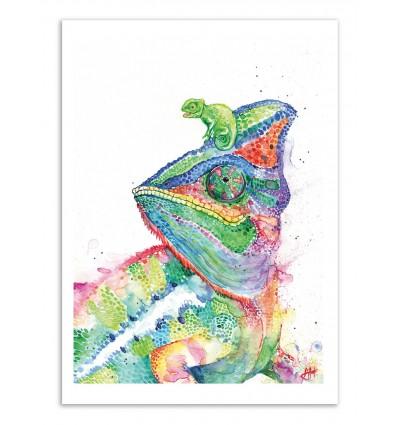 Art-Poster - Clutcha Chameleons - Marc Allante