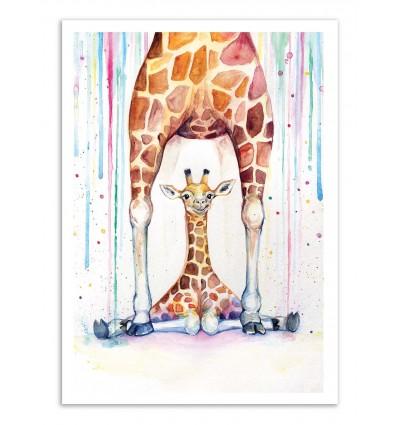 Art-Poster - Gorgeous giraffes - Marc Allante