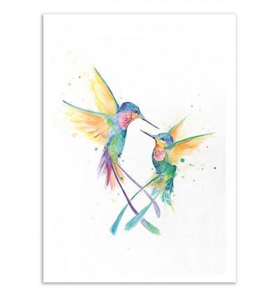 Art-Poster - Happy Humminbirds - Marc Allante