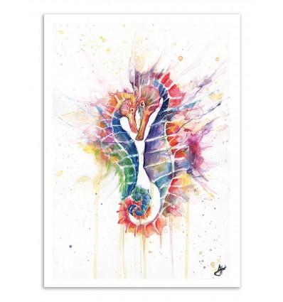 Art-Poster - Sanguine seahorses - Marc Allante
