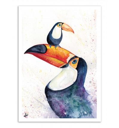 Art-Poster - Toucan play the game - Marc Allante