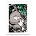 Art-Poster 50 x 70 cm - Totoro - Joshua Budich
